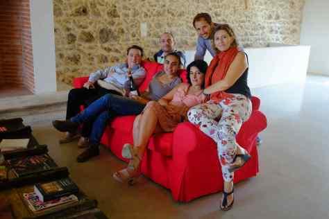 Degustazione tra giornalisti nella cantina di Arianna Occhipinti