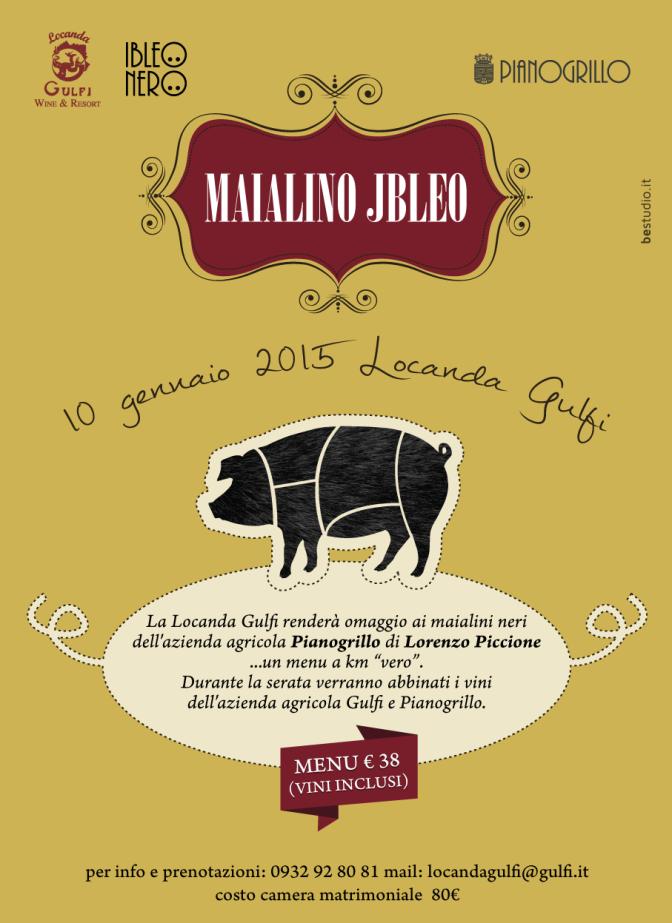 Locanda Gulfi e Piano Grillo, una serata in onore del maialino nero ibleo